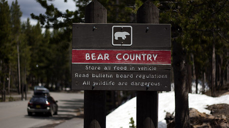 A sign warns tourists about Yellowstone's famous wildlife, but who's warning them about the humans? © Jim Urquhart