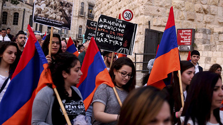Thousands take to streets across the globe to mourn victims of Armenian genocide
