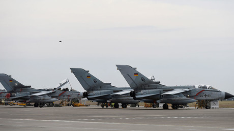 German Tornado jets are pictured on the ground at the air base in Incirlik, Turkey, January 21, 2016. © Tobias Schwarz