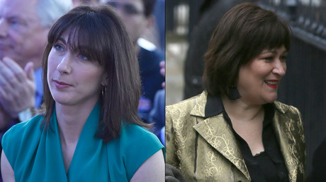 Samantha Cameron, wife of Britain's Prime Minister David Cameron and Sarah Vine, wife of Britain's Secretary for Justice Michael Gove © Reuters