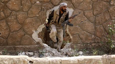 A Jaysh al-Islam (Army of Islam) militant. © Amer Almohibany