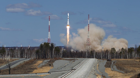 The launch of the Soyuz-2.1a rocket from Russia's new Vostochny Cosmodrome. © Marina Lystseva