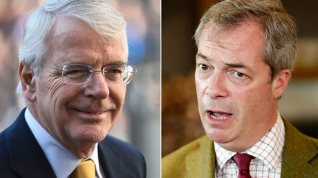 Former British Prime Minister John Major, UKIP party leader Nigel Farage  © Toby Melville, Michael Kooren