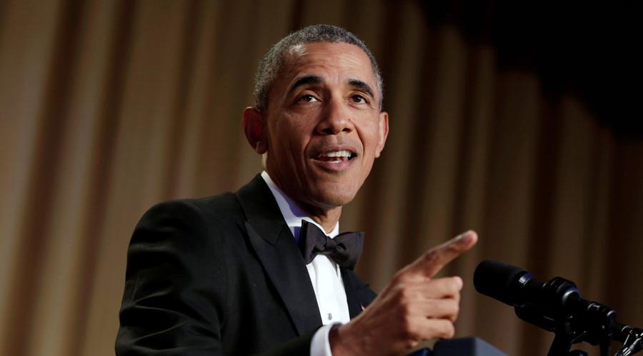 'High Five!' Obama bites Trump, Hillary & Bernie at his final Washington correspondents' dinner