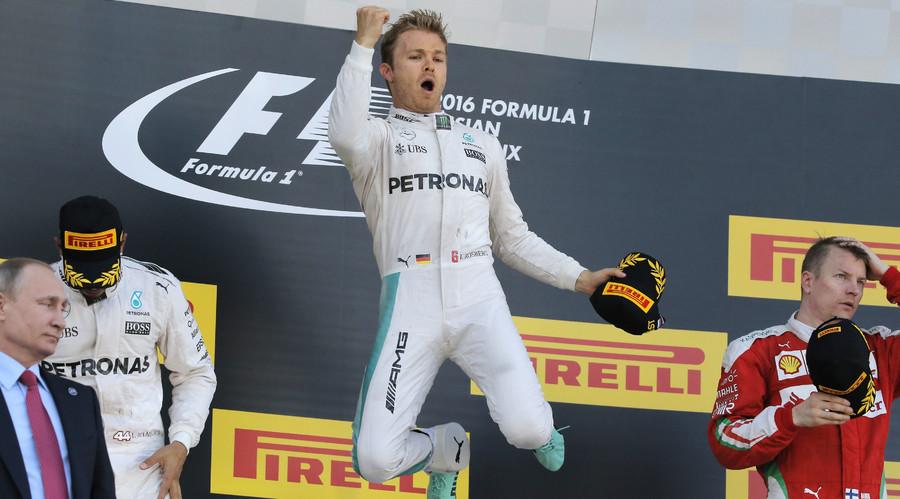 Mercedes F1 driver Nico Rosberg of Germany (C). © Maxim Shemetov