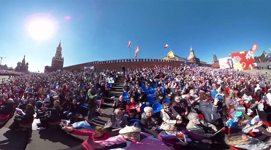 March across Red Square: RT's 360 video of Moscow's May Day Parade