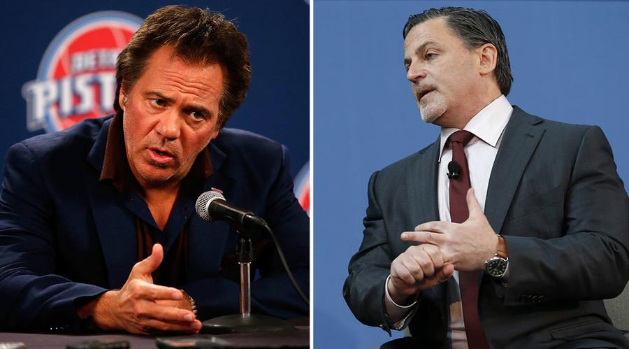 Detroit Pistons owner Tom Gores (L), Cleveland Cavaliers owner Dan Gilbert. © AFP / Reuters