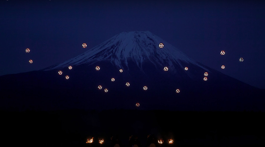 Sky Magic: 'Dancing' drones light up Mount Fuji in dazzling musical show (VIDEO)