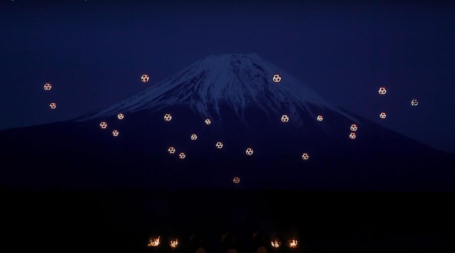 Sky Magic: 'Dancing' drones light up Mount Fuji in dazzling musical show (VIDEO)