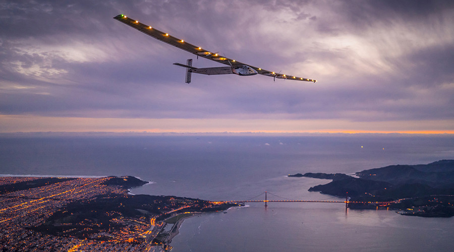 Ambitious solar plane begins US leg of round-the-world flight