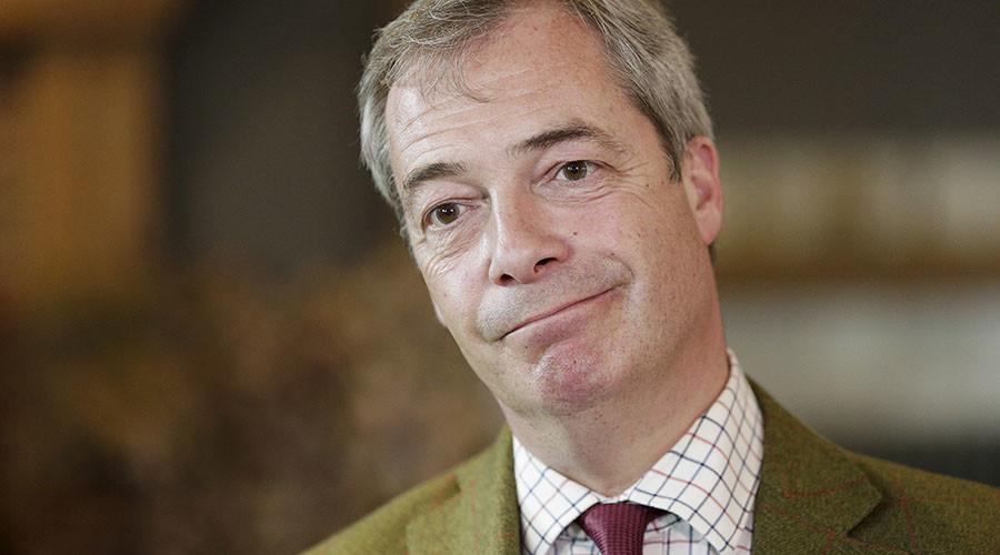 UKIP party leader Nigel Farage. ©Michael Kooren