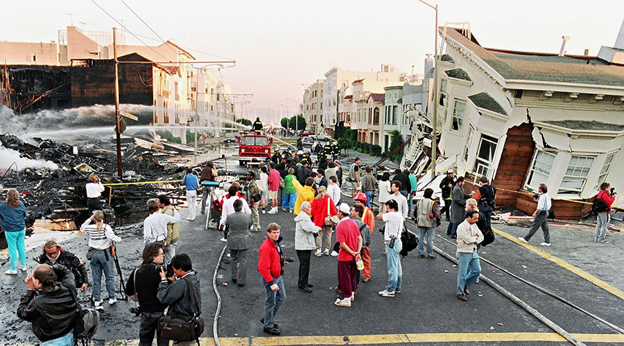 San Francisco after the 1989 earthquake, which caused up to $6 billion in damage. © Jonathan Nourok