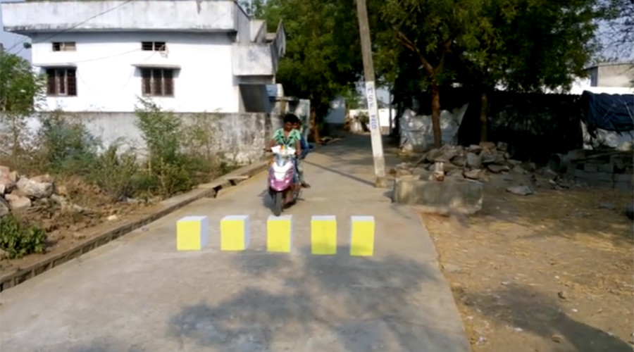 '3D' zebra crossings are tricking Indian drivers to stop them speeding – and the idea is catching on