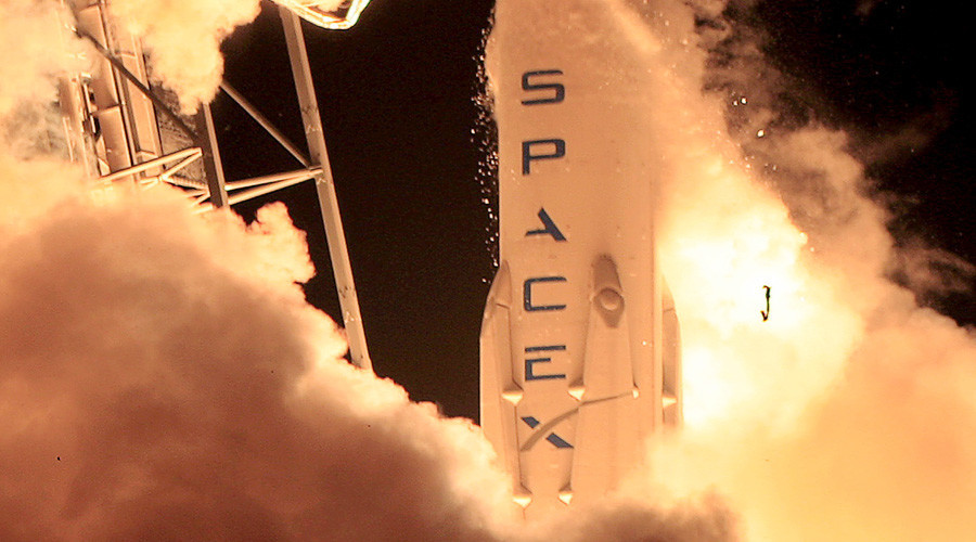 SpaceX Falcon 9 rocket puts satellite into orbit, lands on drone platform