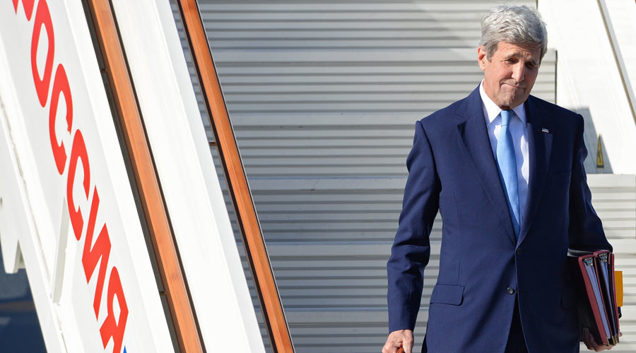 U.S. Secretary of State John Kerry arrives at Vnukovo-2 Airport for his working visit to Moscow. © Iliya Pitalev