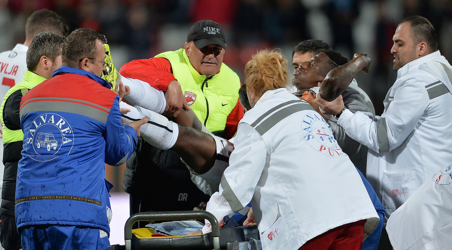 Cameroonian footballer Patrick Ekeng dies after suspected heart attack during match