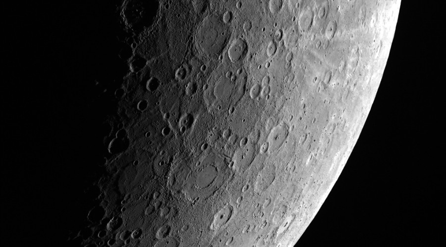 A View of Mercury From Afar © NASA