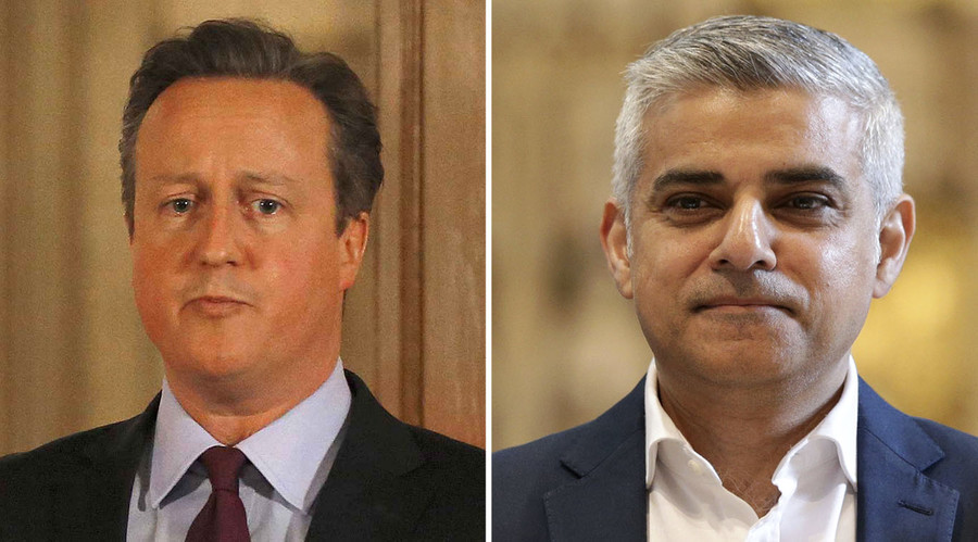 New London Mayor Sadiq Khan accuses Cameron & Goldsmith of 'Trump' tactics