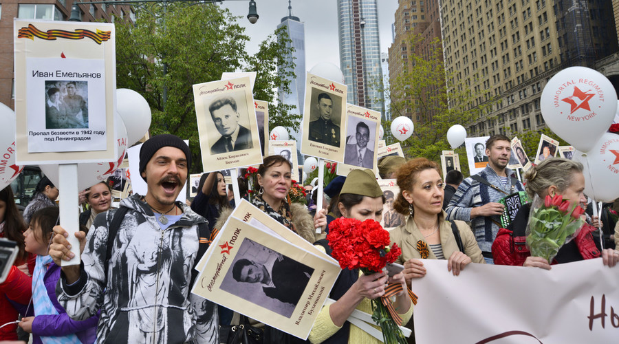 Participants in the Immortal Regiment march held in New York. © Harel Rintzler