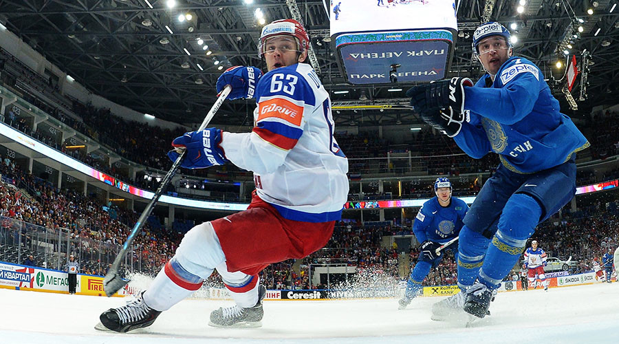 Russia beats Kazakhstan 6-4 on Hockey World Championships Day 3