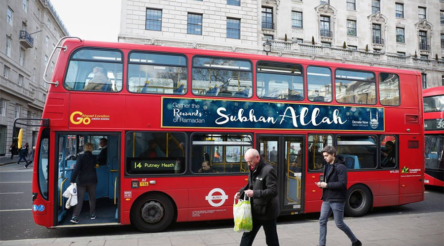 'Praise Allah' banners to appear on UK buses for Ramadan