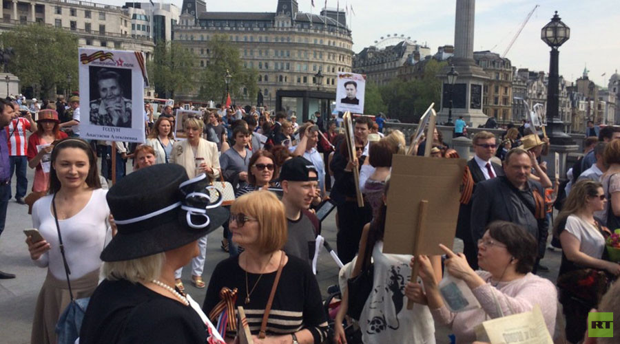 London hosts 'Immortal Regiment' march commemorating WWII veterans