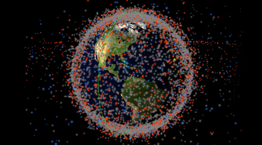 real time map of every object in earth s orbit shows shocking