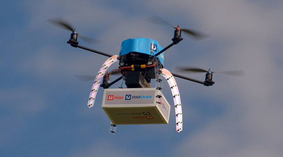 An Australia Post drone, Melbourne ©Australia Post