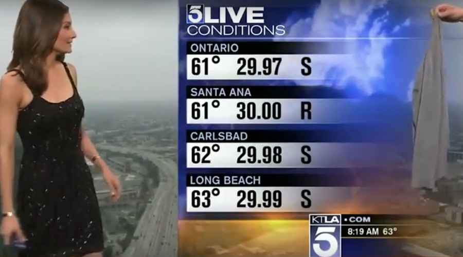 'Why not just give her a burka?' Weather woman dress 'shaming' causes storm online (VIDEO)