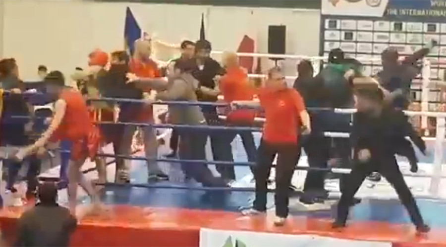 Huge all-in brawl at Armenian-Azerbaijani Kung Fu fight (VIDEO)