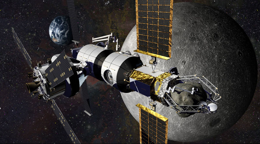 Lockheed Martin's design for a deep space habitat, shown here, is one of several that NASA is considering for its missions to Mars. © Lockheed Martin