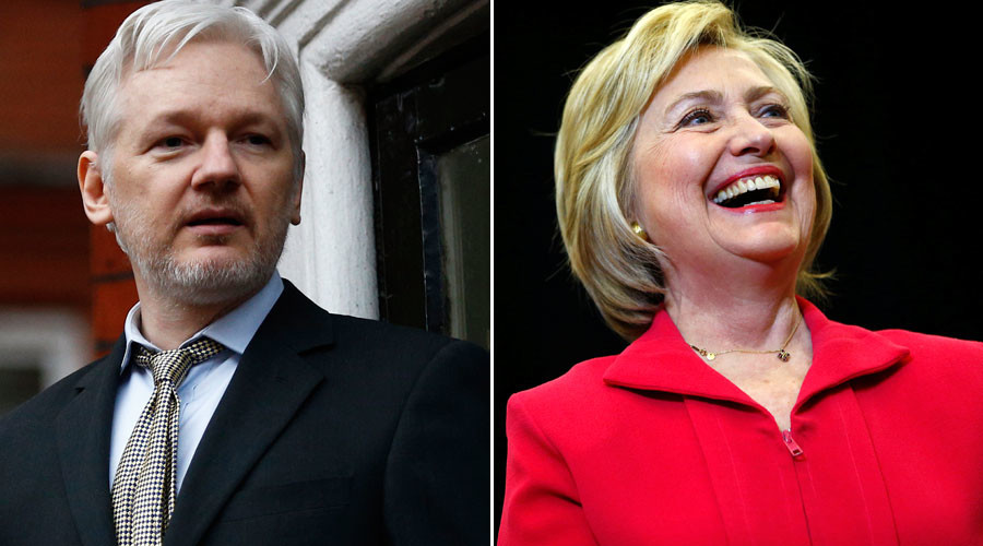 Clinton presidency could make life 'worse' for Assange, warns Wikileaks exile