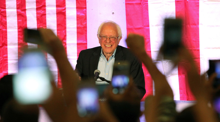 Democratic presidential candidate Bernie Sanders has always been a longshot, but for now, he's still in the game. © Alvin Baez