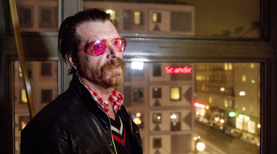 """Jesse Hughes, the singer of the American band """"Eagles of Death Metal"""". ©  Gustav Maartensson"""