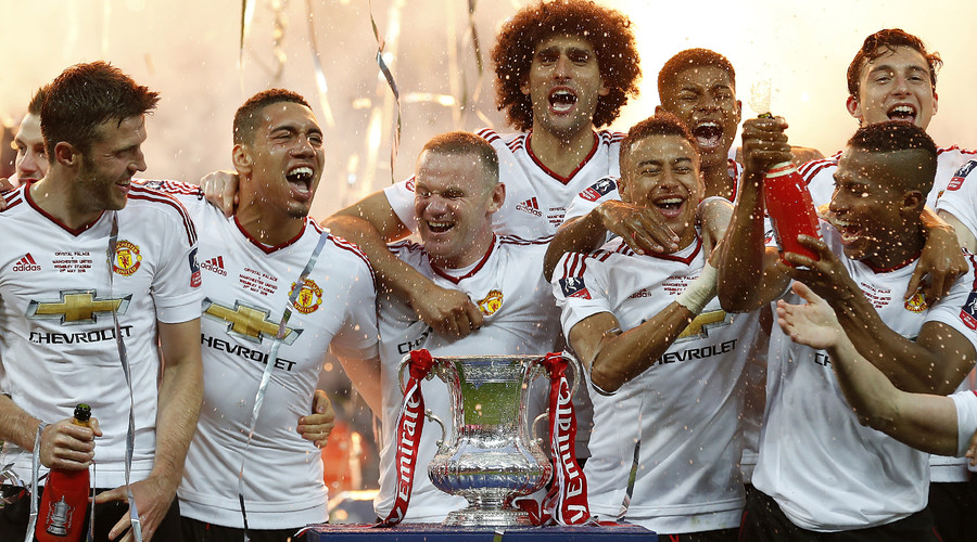 Man United wins FA Cup, beating Crystal Palace 2-1 after extra time