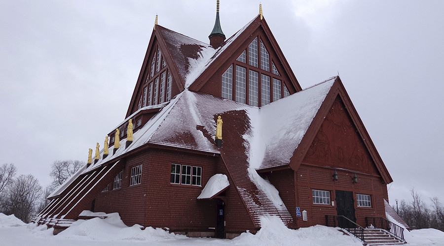 Kiruna's church will be packed up and sent down the road. © Balazs Koranyi