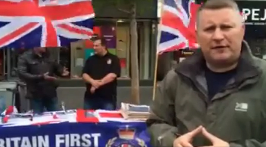 'Racists not welcome here!' Britain First Brexit campaigners run out of Leicester