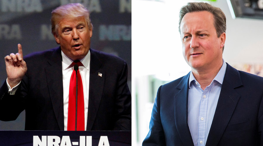 Republican presidential candidate Donald Trump and British Prime Minister David Cameron © John Sommers II / Jack Taylor