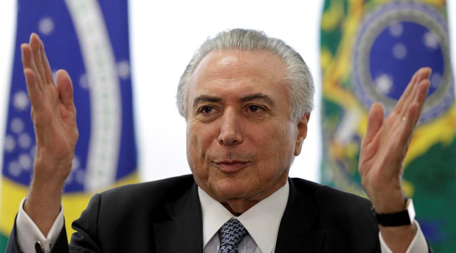 Brazil's interim President Michel Temer © Ueslei Marcelino