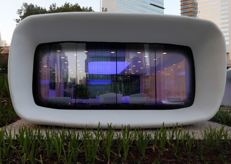 A view of the world's first functional 3D printed offices are seen in Dubai May 23, 2016. © Ahmed Jadallah
