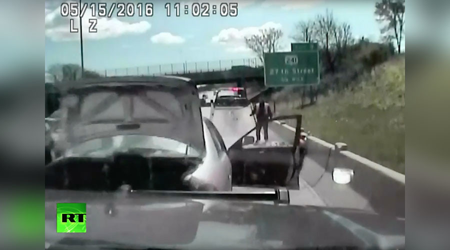 Dashcam captures enraged driver smashing into squad car, dragging cop (VIDEO)