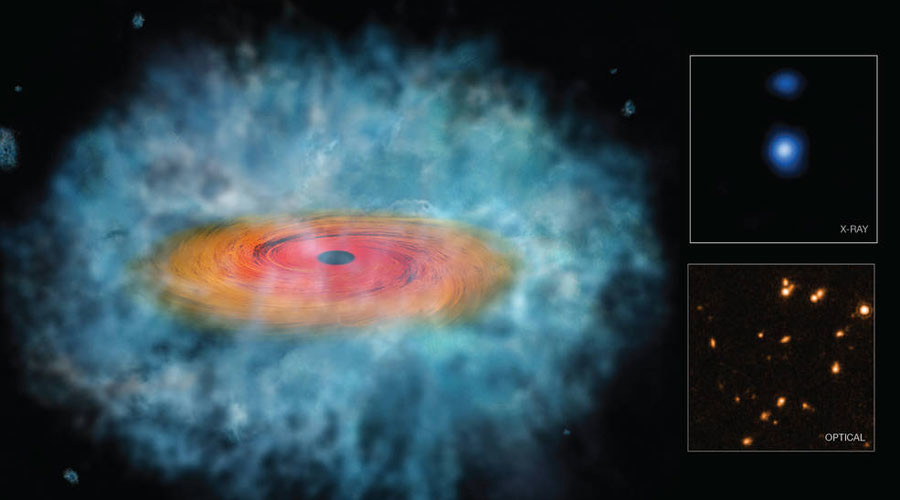 Supermassive black holes born from collapsing gas clouds, study suggests (PHOTO)