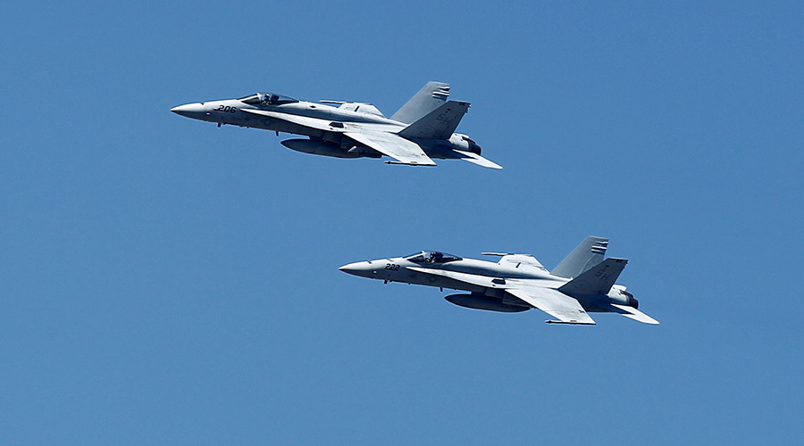 Two US Navy F-18s crash in the Atlantic off North Carolina's Outer Banks