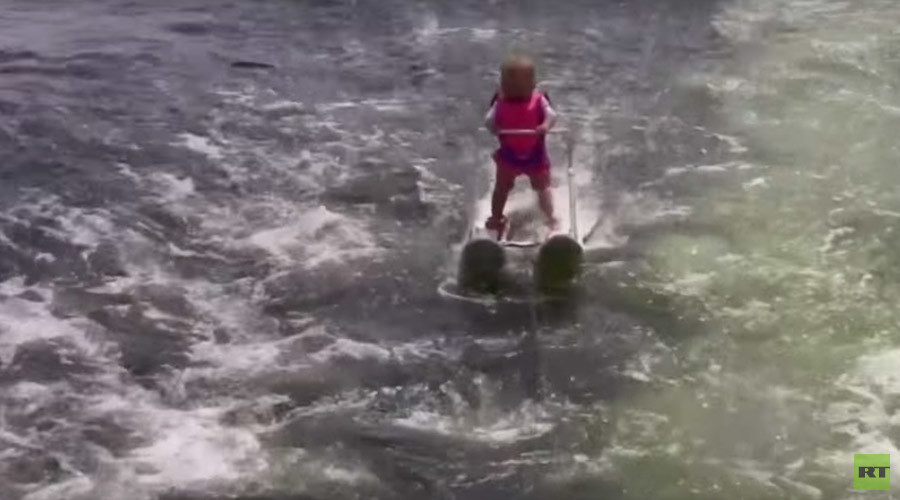 Amazing 6-month-old becomes youngest ever water skier (VIDEO)