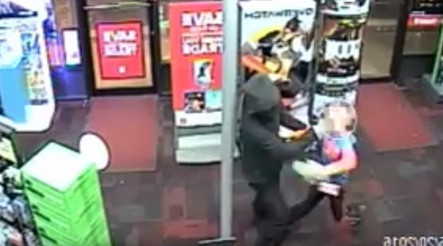 7-year-old wielding stuffed animal tries to fight armed robber [VIDEO]
