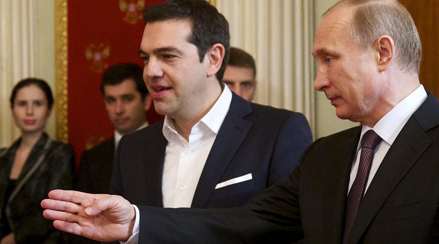 Russian President Vladimir Putin (R) and Greek Prime Minister Alexis Tsipras © Alexander Zemlianichenko