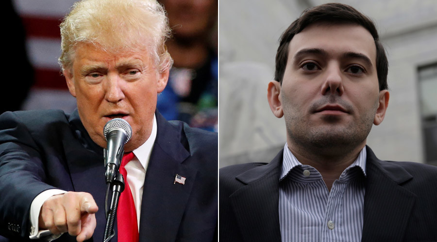'Pharma Bro' Shkreli endorses Trump, even though he already backed Sanders