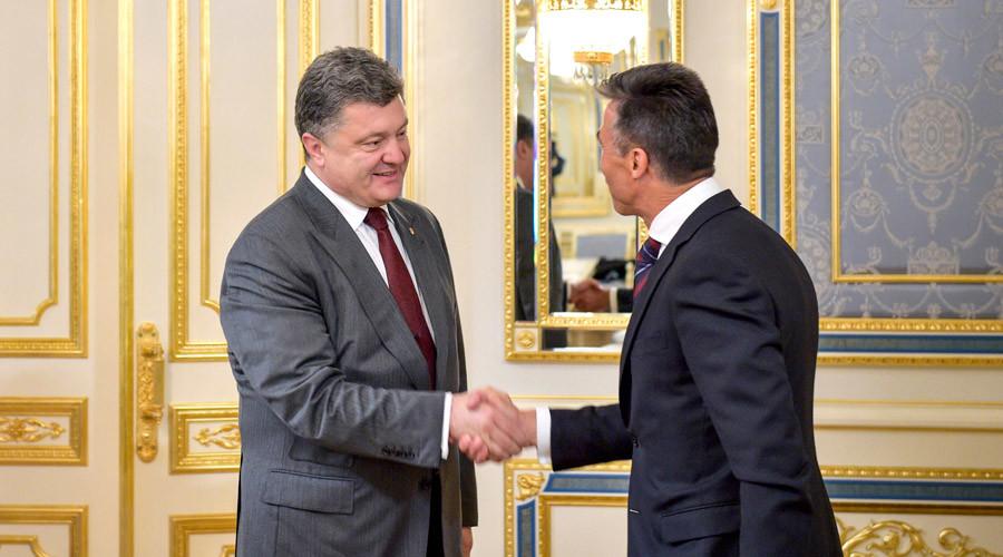 Poroshenko appoints former NATO chief Rasmussen 'non-staff adviser'