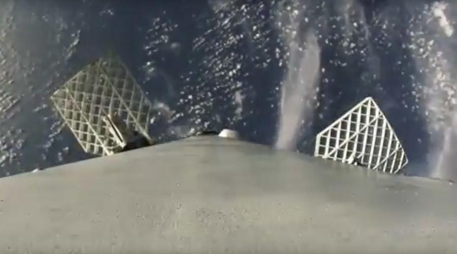 NASA SpaceX rocket captured landing back on earth (VIDEO)