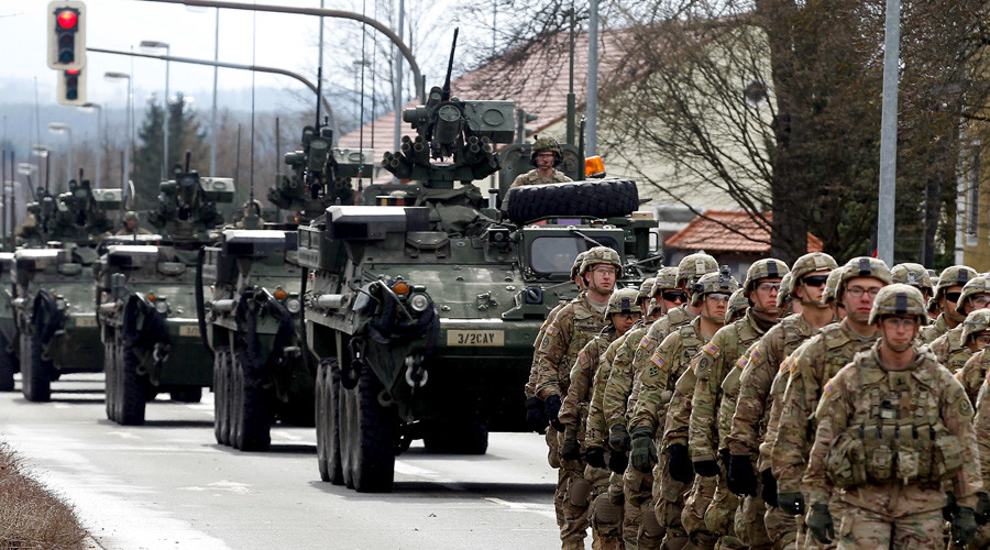 1,400 US soldiers & 400 vehicles head to Baltics for Saber Strike drills (PHOTOS)